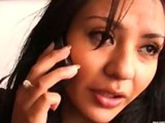Латинская красавица получила выстрел спермы на лицо после секса
