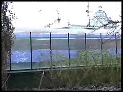 Рыженькую трахают на улице