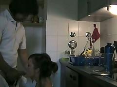 Жена изменяет мужу с с любовником на кухне