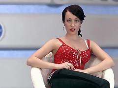 Russkaja brjunetka Dasha na publike