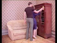 Русская мамаша и друг ее сына