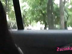 Мастурбация в такси