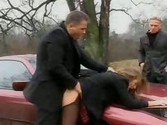 порно вдвоем в машине