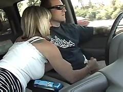 Задрочка в машине