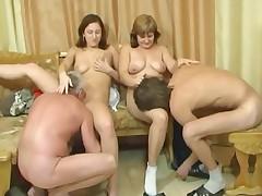 Русское групповое порно