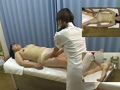 Podgljadyvanie za massazhem s japonochkoj