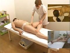 Подглядывание за азиатским массажем