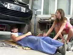 Трах в гараже