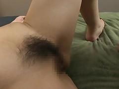 Оргазм Хитоми на сеансе глубокого массажа