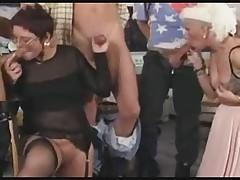 Бабушка попробует каждый член