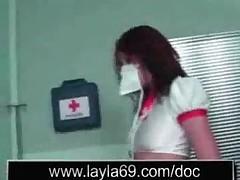 Медсестра трахает пациента после приема в больнице