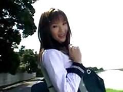 Студенток азиаток оттрахали не снимая с них школьной формы