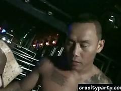 Секс толпой в одном из закрытых клубов