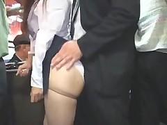 Азиатский секс в автобусе