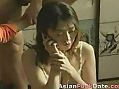 Мамочка азиатка изменяет мужу