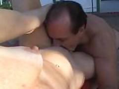 Анальный секс со старушкой