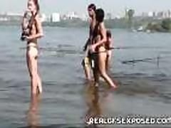 Рыбалка с обнаженными русскими подростками
