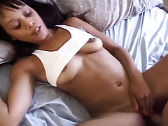 Ebony cock slut's ready for her hardcore interracial fucking