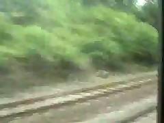 Любительский минет в поезде